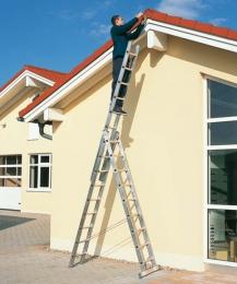Многофункциональные трехсекционные лестницы ZARGES Z200 арт.44843, 6,35 м.