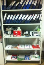 Стеллаж архивный полочный 2000х500х700 нагр. 90 кг на полку, 4 полки полимер RAL 7035