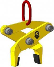Клещевой вертикальный захват  для брикетов, блоков, бордюров