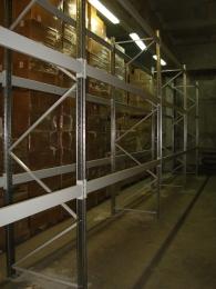 Паллетный стеллаж складской для финподднов 2500х3300х1000 нагр.3,7 т/ ярус, 2 яр+пол