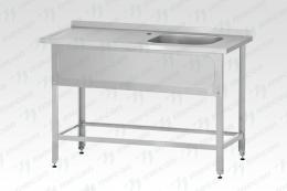 """Стол с ванной моечной РПЦн-1400*600 """"Norma Inox"""", м/о 500х400х250 мм"""