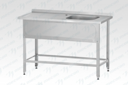 "Стол с ванной моечной РПЦн  1800*600 ""Norma Inox"", м/о 400х400х250 мм, двухсекционная"