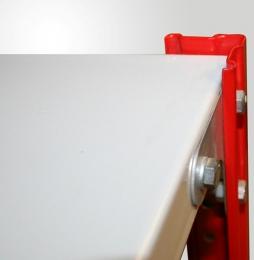 Полка архивного стеллажа длиной 700мм,глубиной 400мм,полимер RAL 7035, нагрузка до 100кг