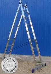 Лестница двухсекционная универсальная многоцелевая H2 5209 (Алюмет – Россия)