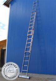 Лестница трехсекционная универсальная многоцелевая H3 5308 (Алюмет – Россия)