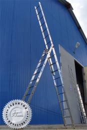 Лестница трехсекционная универсальная многоцелевая H3 5313 (Алюмет – Россия)