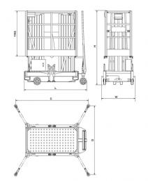 Подъемник передвижной телескопический мачтовый   GTWY 10.2000DC
