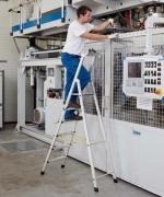 ZARGES Z600 стремянки с широкими ступенями и анодированными стойками  арт.41230, 3,07 м.