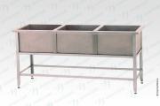 """Ванна моечная ВМСн - 530/3 """"Norma"""", 3 м/о 430*430*300 - базовый элемент"""