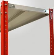 Стойка архивного стеллажа усиленная  высотой 1800мм,полимер RAL 7035, нагрузка до 800кг на секцию