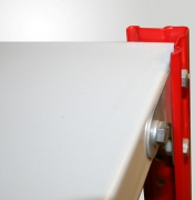 Полка архивного стеллажа длиной 1000мм,глубиной 500мм,полимер RAL 7035, нагрузка до 90кг