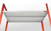 Усиление полки длиной 1200мм,полимер RAL 7035