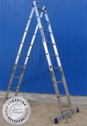 Лестница двухсекционная универсальная многоцелевая H2 5208 (Алюмет –Россия)