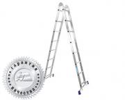 Лестница двухсекционная шарнирная профессиональная T209 (Алюмет – Россия)